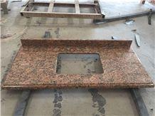 Giallo Fiorto, Red Granite Bath Tops
