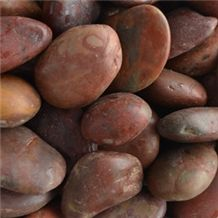 Natural Red Pebble Stone Polished