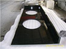 Shanxi Black Granite Countertop,Absolute Black Counter Top,Kitchen Countertops,Custom Countertops