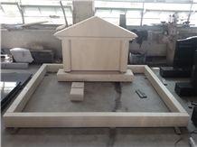 Gohara Limestone Marble Monument,Ocean Beige Polished Tombstone & Memorial