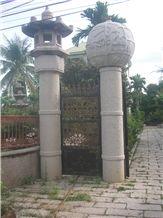 Gates - White Granite, Supreme White Granite Gates & Fence