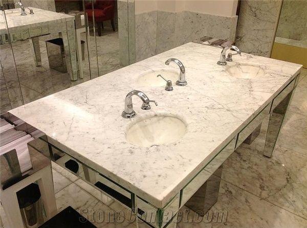 White Arabesque Marble Bathroom Countertops From Brazil
