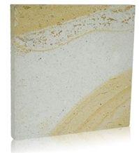 Antik Sari Beyaz - Antique Yellow White Tuff Stone