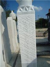 White Marble Muslim Gravestones