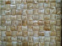 China Yellow Onyx Mosaic Tiles and Pattern