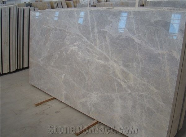 Desert Silver Greece Marble Tiles Slabs Grey Marble Tiles