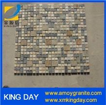 China Multicolor Slate Brick Mosaic