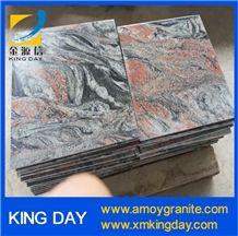 Multicolor Red Granite Tiles,Multicolor Red Granite Flooring,Fantasy Red Granite,Multi Color Red Granite