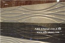 Beige and Black,Red Marble Carving Relief