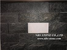 China Black Granite Mushroom Stone Wall Cladding, Chinese Natural Cultured Stone