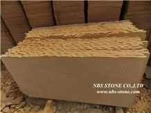 China Wood Grain Yellow Sandstone Slabs & Tiles