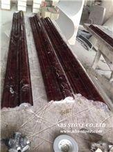 High Quantity Decorative Rosso Lepanto Marble Moulding,Border Lines