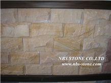 Rusty Yellow Slate Mushroom Stone Walling Cladding