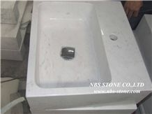 Volakas Marble Bathroom Countertops,Greece White Marble Countertops