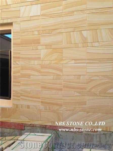 Yellow Sandstone Tile Slabs Sandstone Wall Tiles From China