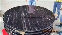 Silver Dragon Marble Round Table Top