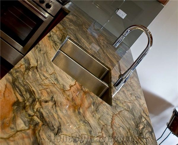 Fusion Quartzite Kitchen Countertop Brazil Quartzite Work