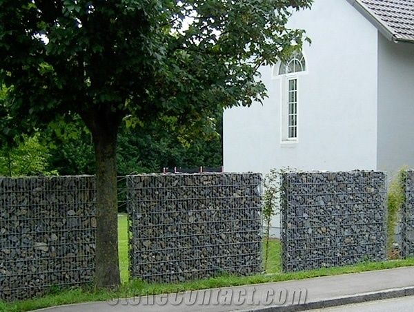 Black Basalt For Gabion Garden Wall From Germany