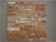 Culture Slate Tile,China Slate Panel,Yellow Slate Panel,Rusty Culture Stone,Rusty Slate Corner,Slate Cultured Stone