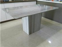 Polished Crystal Wood Marble Square and Round Table