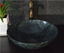 Best Natural Stone Wash Basin & Sink by Marble for Outdoor & Indoor,Dark Green Granite Water Wash Basin Sink