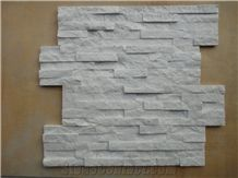 China Cheap Pure White Quartzite Culture Stone for Wall Cladding Decor, Ledge/Loose/Corner Stone Filedstone Feature Wall, Natural Building Stone Exterior Decoration