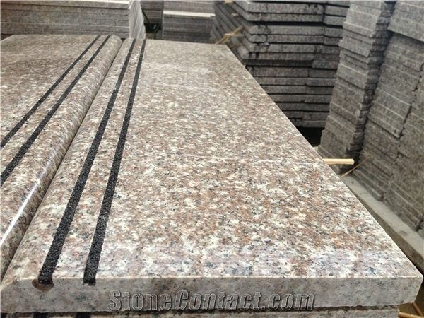 China G664 Pink Brown Granite Slabs Tiles Porrino