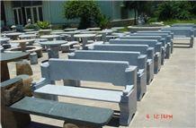 Garden Stone Outdoor Chairs Garden Table and Garden Bench, Grey Granite Outdoor Chairs