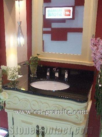 Pegasus Black Granite Vanity Tops Pegasus Black Granite Vanity Tops Manufacturer Supplier Bathroom Vanity Tops Granite Vanity Tops From China Stonecontact Com