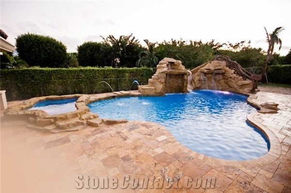 Da Vinci French Pattern Pool Pavers From United States