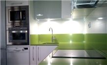 Apple Green Quartz Stone Surface for Prefab Countertops Your First Kitchen Countertop Options Nonporous More Durable Than Granite Countertops Slab Size 3200*1600 or 3000*1400