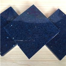 Export-Oriented Wholesaler Of Man-Made Stone Sparkle Blue Tabletops Resistant to Stains,Heat and Scratches,Qualified for European Standards,More Durable Than Granite Thickness 2cm