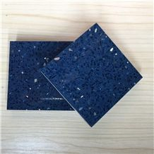 Sparkle Blue Artificial Quartz Stone Slab & Tile Of Low Water Absorption But Cheap Pricing Suitable for Worktop Table Top Projects More Durable Than Granite Thickness 2cm or 3cm