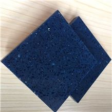 Sparkle Blue Chinese Quartz Surfaces Materials Supplier with International Designing and Competitive Pricing for Worktop Table Top Projects More Durable Than Granite Thickness 2cm or 3cm