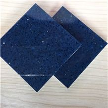Sparkle Blue Quartz for Cut to Size Project Like Counter Top,Tabletop,Floor and Wall Polished Quartz Surfaces Shining Series Slab Sizes 126 *63 and 118 *55,More Durable Than Granite