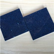 Sparkle Blue Quartz Stone Slab for Pre-Fabricated Top Right for Your Home and Budget Countertop Normally Produced Slab Size 118*55 and 126*63,Top Quality and Service,More Durable Than Granite