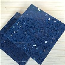 Sparkle Blue Quartz Stone with Bright Surfaces for Prefab Countertops Your First Kitchen Countertop Options Nonporous More Durable Than Granite Countertops Slab Size 3200*1600 or 3000*1400