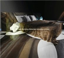 Luxury Elegant Brown Quartzite Floor Tiles in Bedroom, Brazil Brown Quartzite