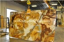 Yellow Luxury Palomino Quartzite Slabs & Tiles