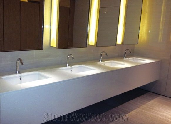 Non Porous Eco Friendly Milk White Crystal Gl Wash Basin for ... on eco friendly bathroom countertops, kohler glass sink, commercial wall mount lavatory sink,