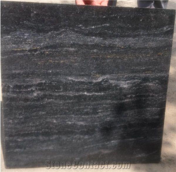 Ocean Black Granite Blocks Owl Seawave River Tile Slabs Indian