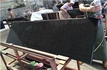 China Yuexi Black Galaxy Granite Kitchen Countertops