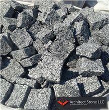 Gray Granite Cube Stone,Cobble Exterior