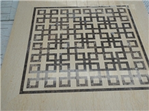 Medallion Marble Water Jet ,Square Flooring