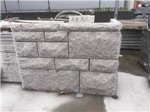 G350 Yellow Granite Mushroom Wall Stone