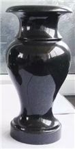 Shanxi Black Absolutely Black Granite Vases Urns Crosses Western Style Russian Style