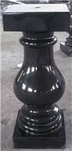 Shanxi Black Granite Western Style Grave Vases Urns Candle Plates