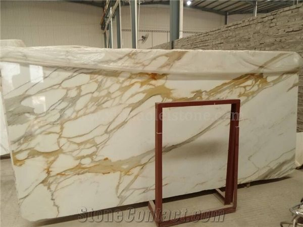 Calacatta White Marble Slabs Gold Vein Marble Italy Gold