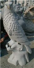 China Grey Granite Pigeon/Tercel/Lanneret, Grey Granite Sculpture & Statue