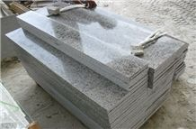 G655 Polished Granite Stairs & Steps, China White Granite Stairs & Steps